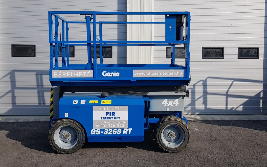 GENIE GS 3268 RT 4×4 Diesel – ollós emelő bérlés